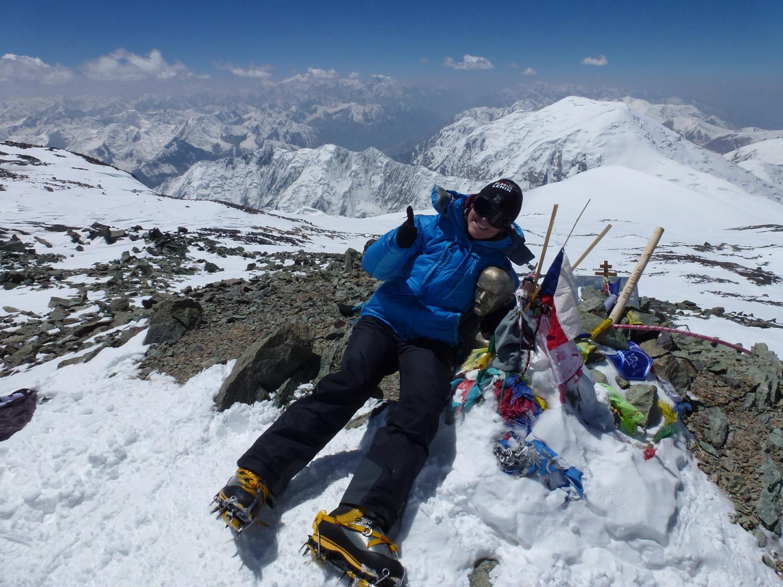 Geschafft! Barbora an der Gipfel-B�ste.